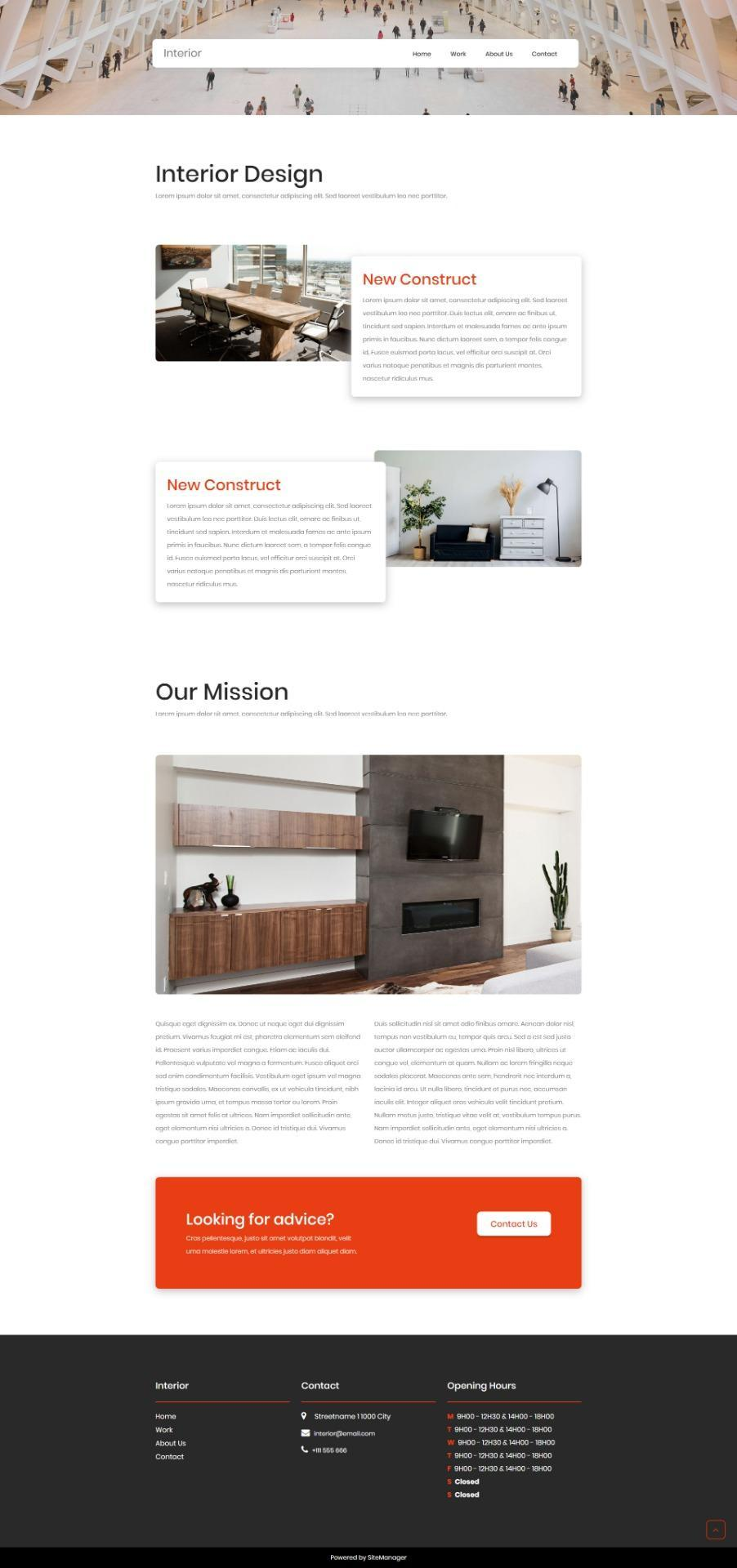 SiteManager Themes - Interior